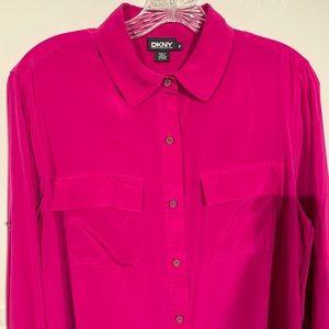 DKNY Silk Button Down Shirt